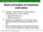 basic principles of employee motivation1