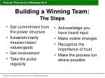 building a winning team the steps
