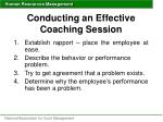 conducting an effective coaching session