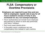 flsa compensatory or overtime provisions1