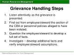 grievance handling steps