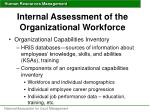 internal assessment of the organizational workforce1