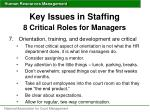 key issues in staffing 8 critical roles for managers4