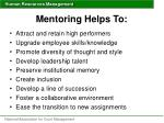 mentoring helps to