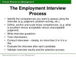 the employment interview process