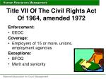 title vii of the civil rights act of 1964 amended 19721