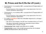 m prices and the e rs the lr cont