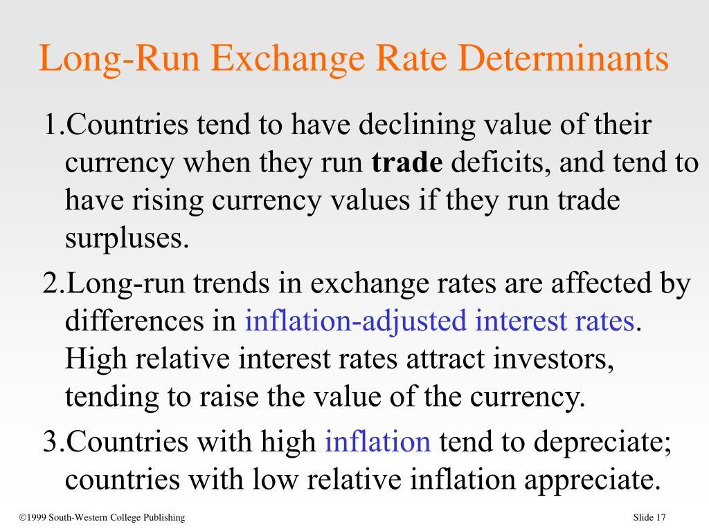 Long-Run Exchange Rate Determinants
