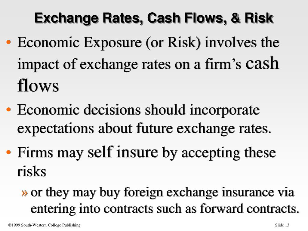 Exchange Rates, Cash Flows, & Risk