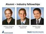 alumni industry fellowships
