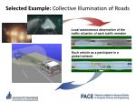 selected example collective illumination of roads