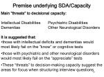 premise underlying sda capacity