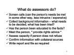 what do assessors do