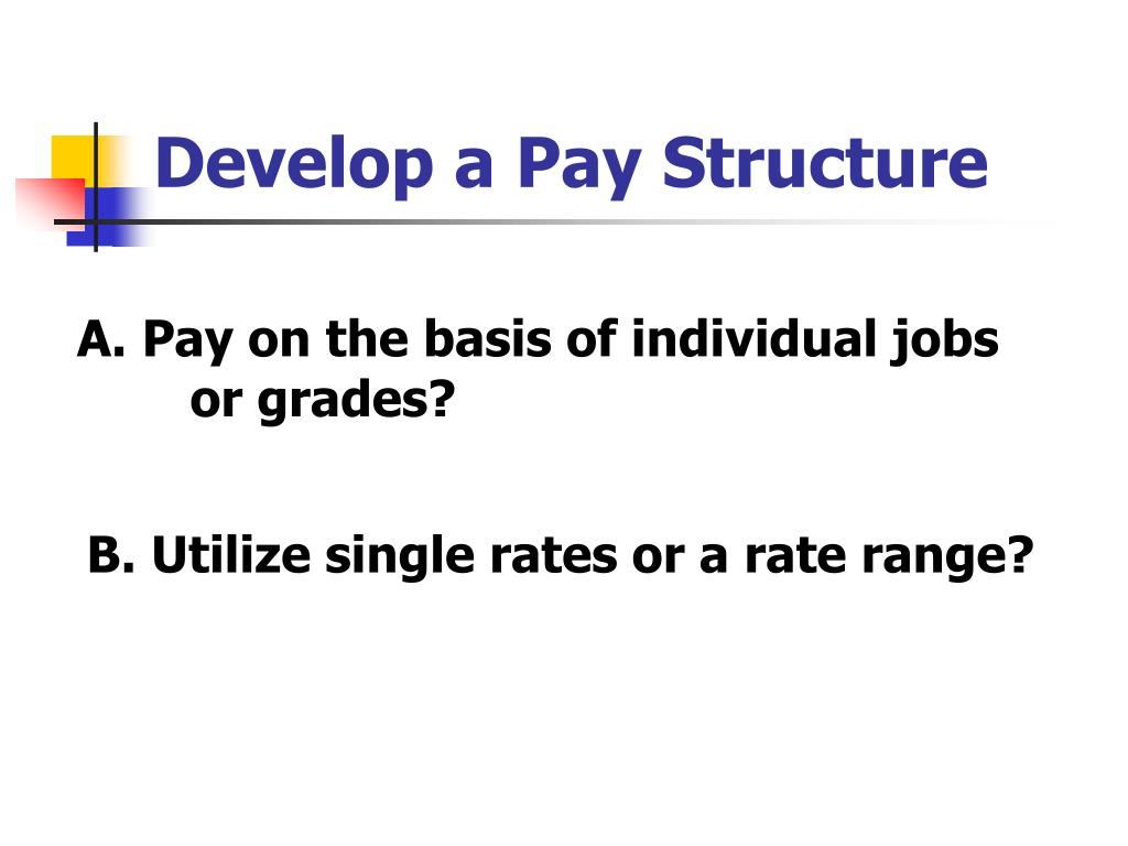 Develop a Pay Structure
