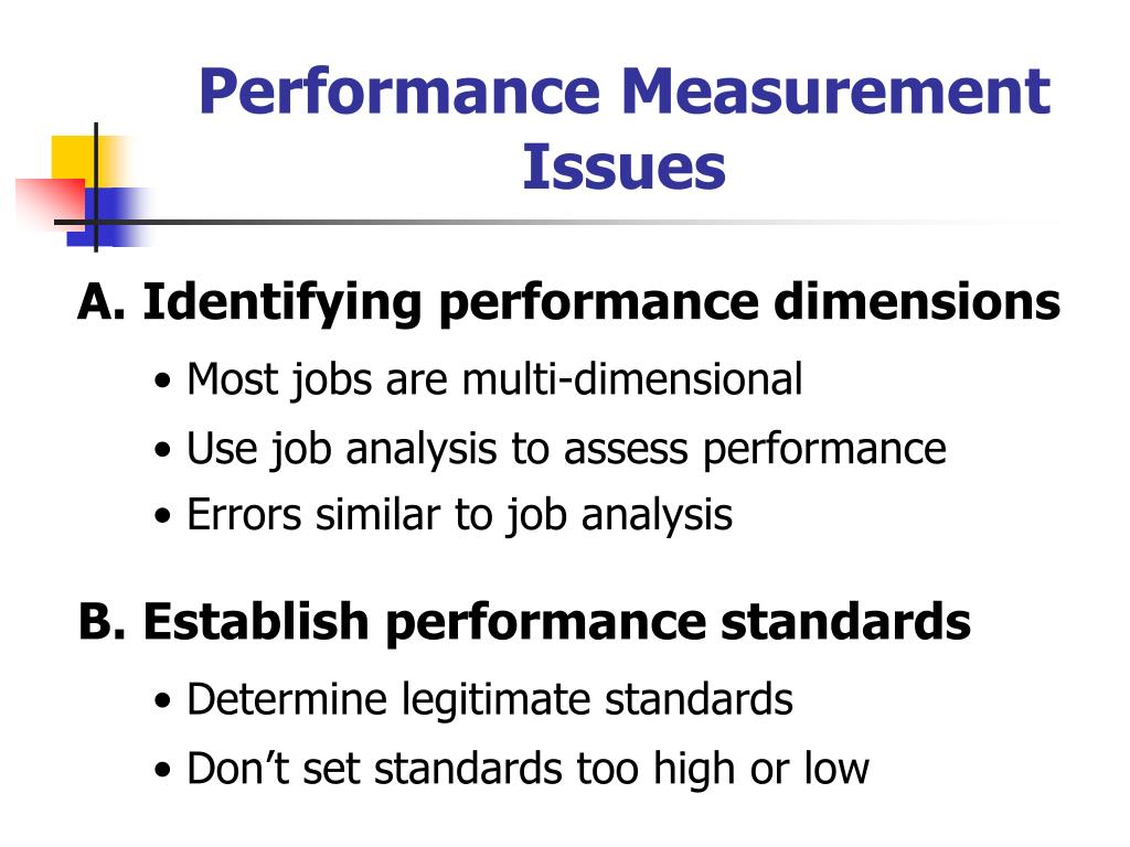 Performance Measurement Issues
