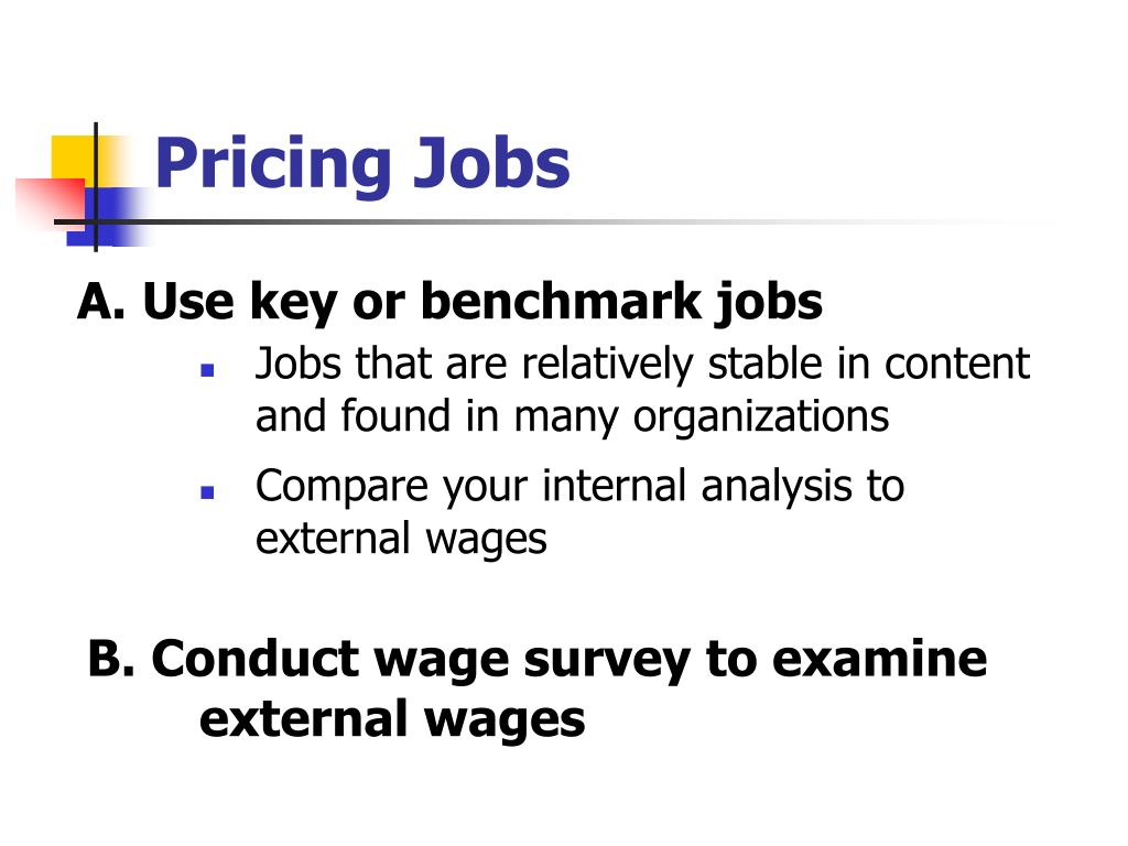 Pricing Jobs