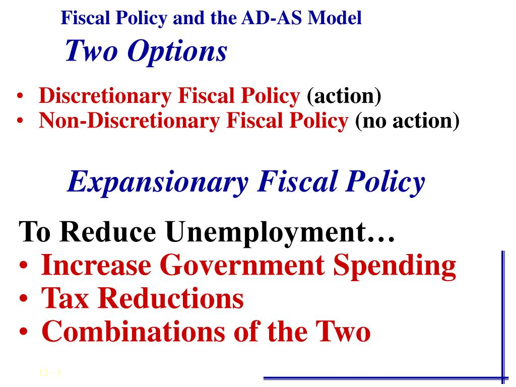 Fiscal Policy and the AD-AS Model