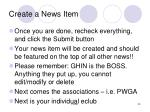 create a news item35
