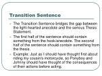 transition sentence