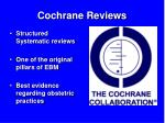 cochrane reviews
