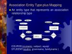 association entity type plus mapping