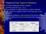 mapping entity types to relations