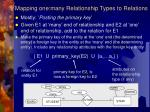 mapping one many relationship types to relations