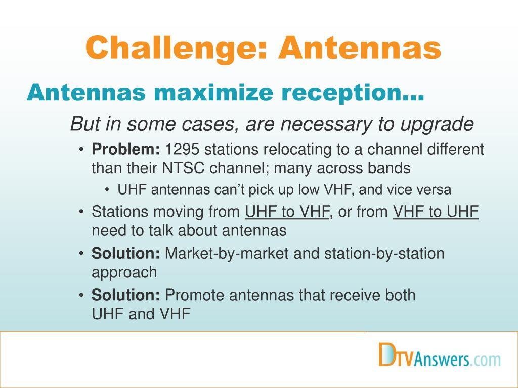 Challenge: Antennas