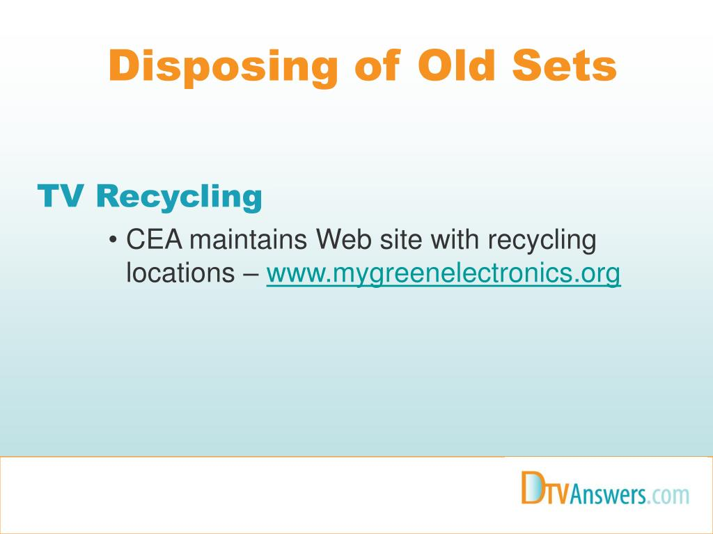 Disposing of Old Sets