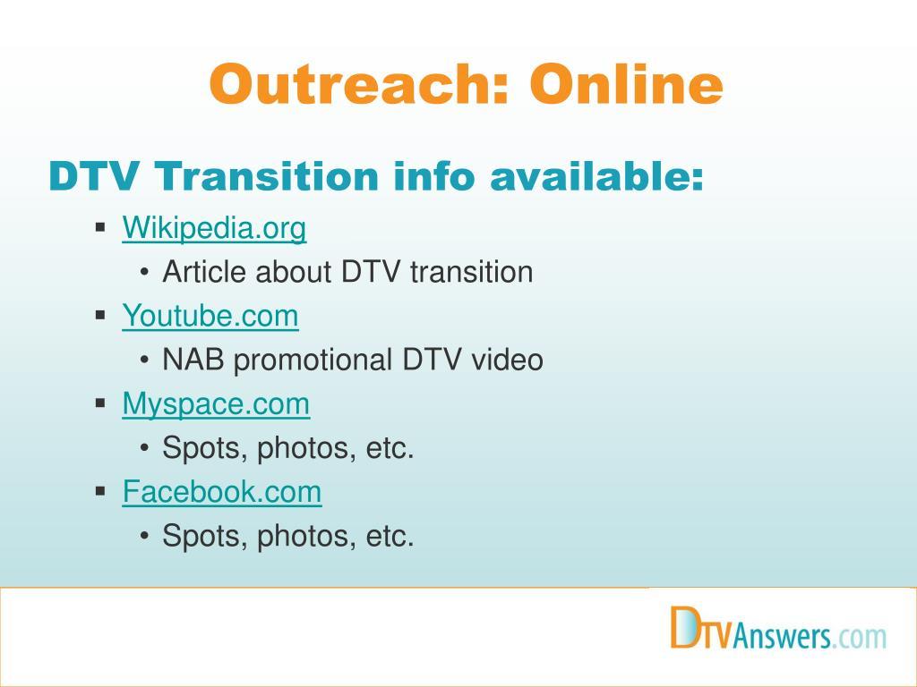 Outreach: Online