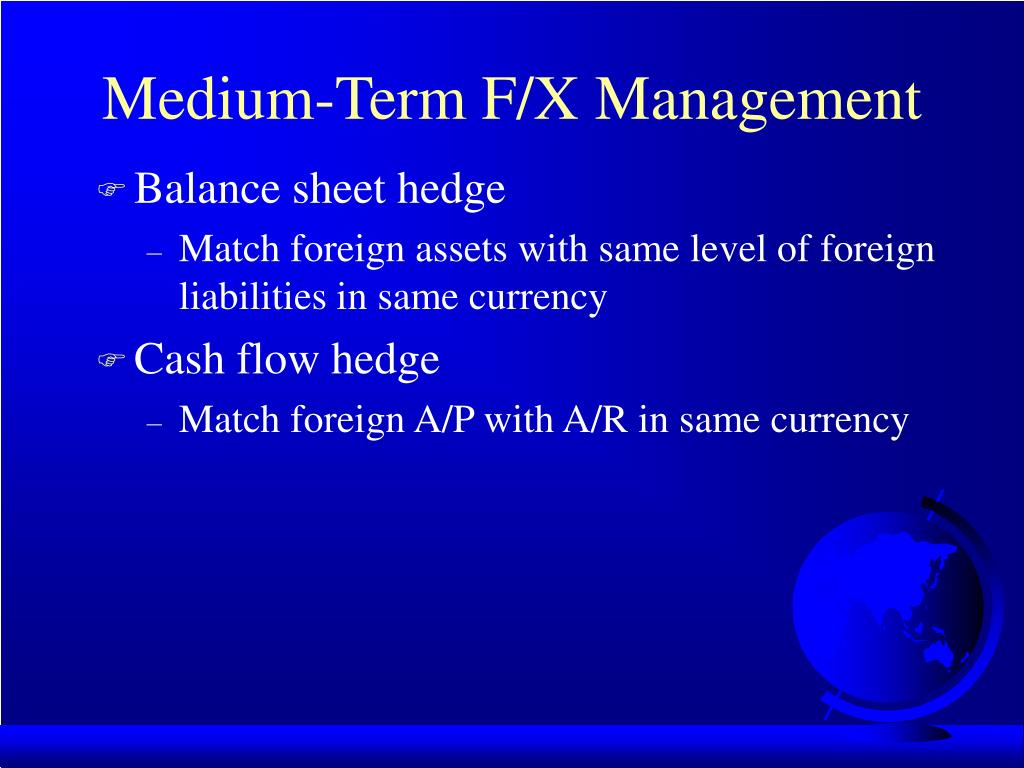 Medium-Term F/X Management