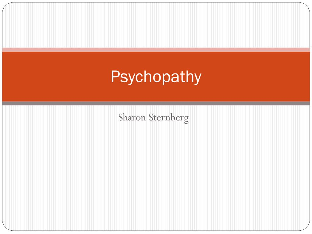 psychopathy l.