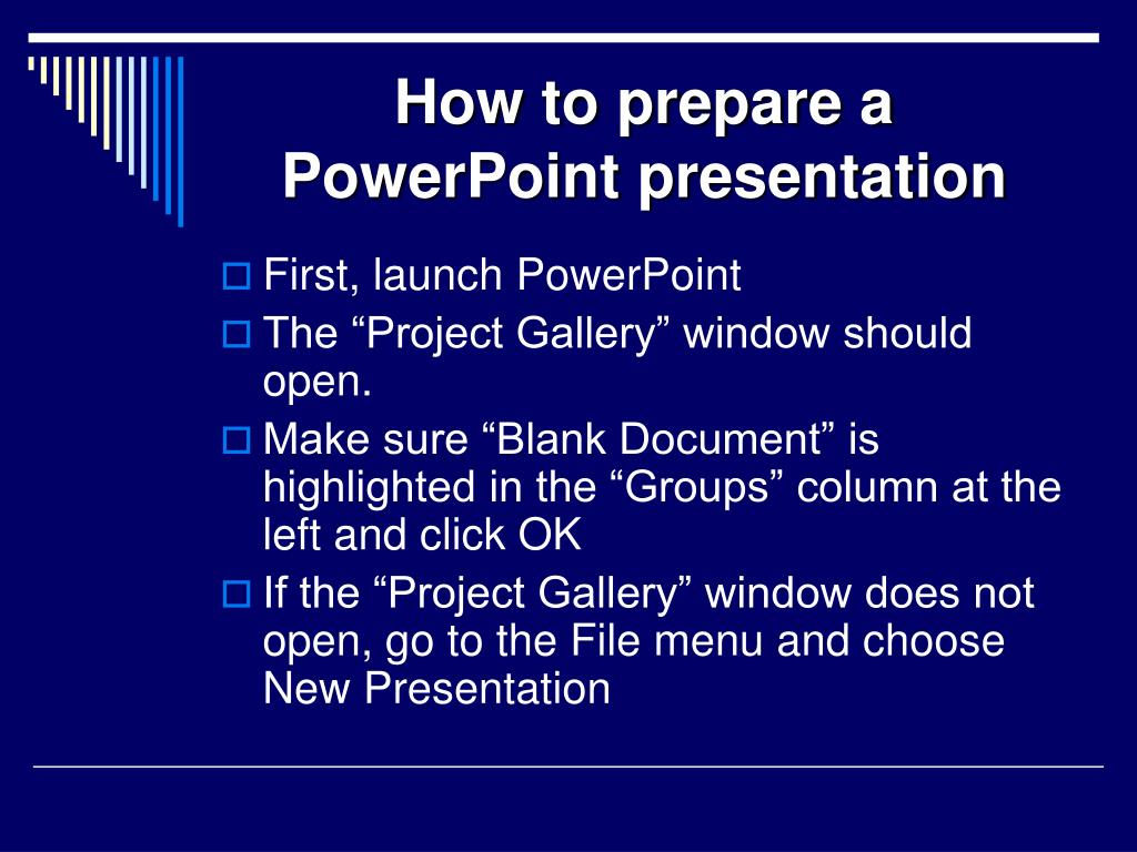 how to prepare a powerpoint presentation l.