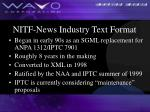 nitf news industry text format