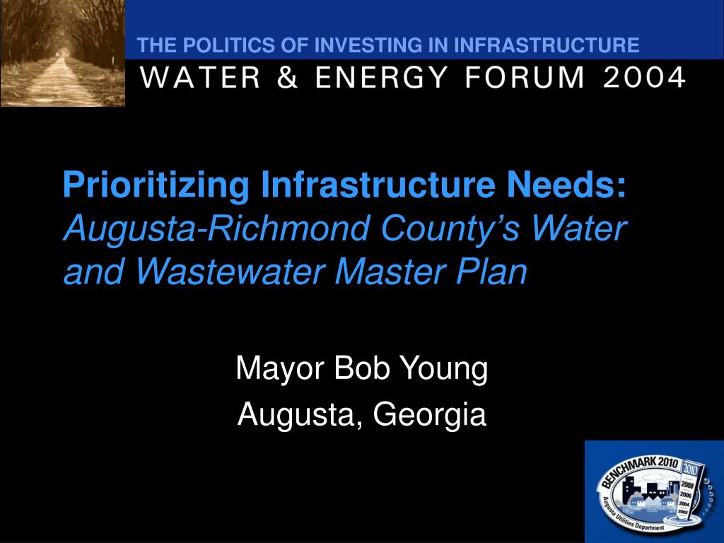 prioritizing infrastructure needs augusta richmond county s water and wastewater master plan l.