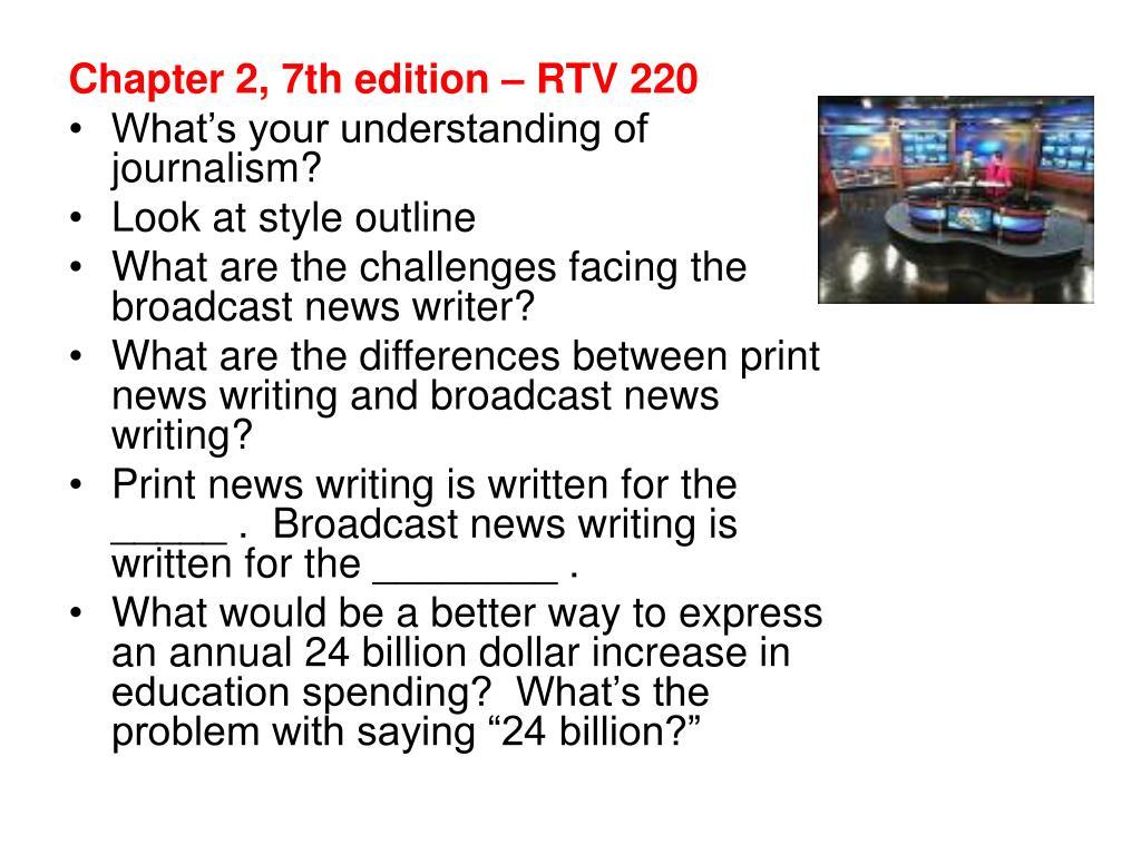 Chapter 2, 7th edition – RTV 220
