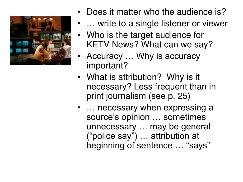 Does it matter who the audience is?