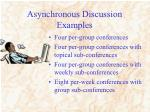 asynchronous discussion examples