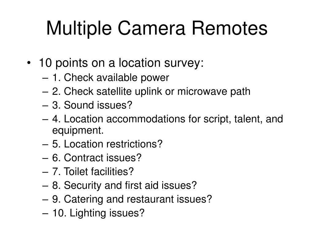 Multiple Camera Remotes