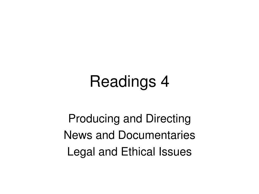 readings 4 l.
