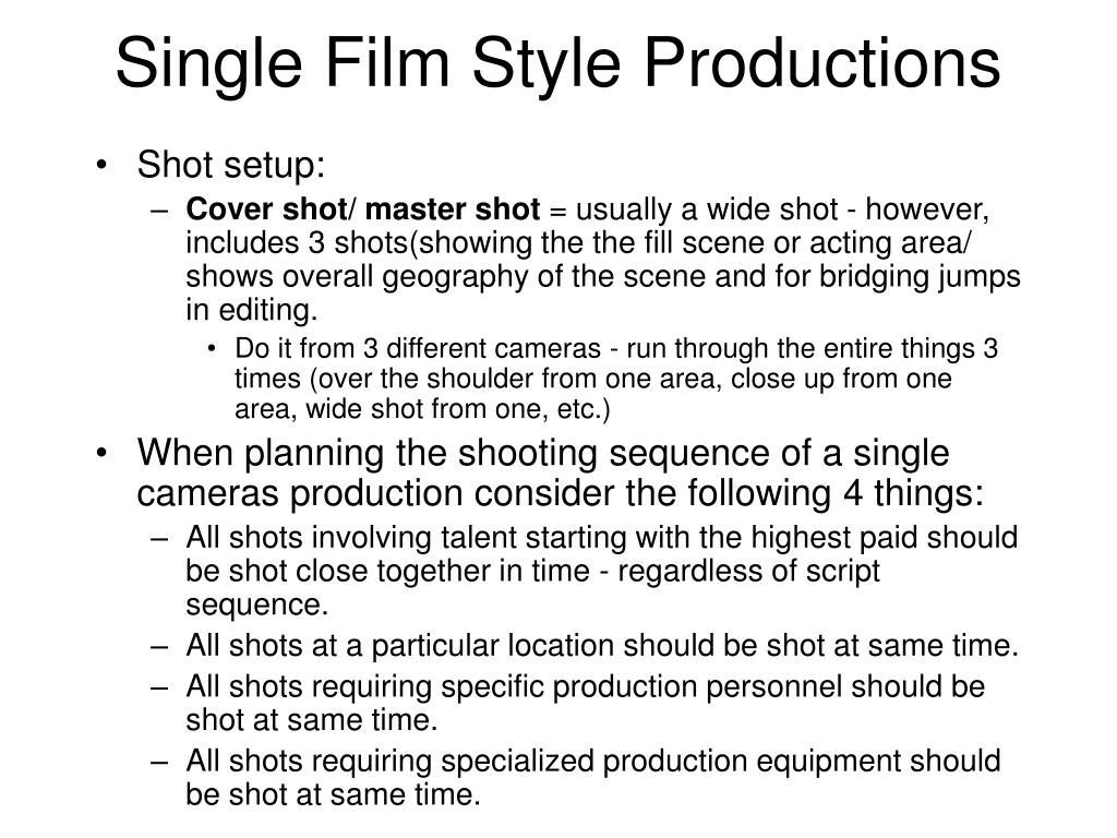 Single Film Style Productions