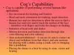cog s capabilities
