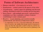 forms of software architectures
