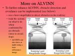 more on alvinn