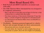 more road based avs