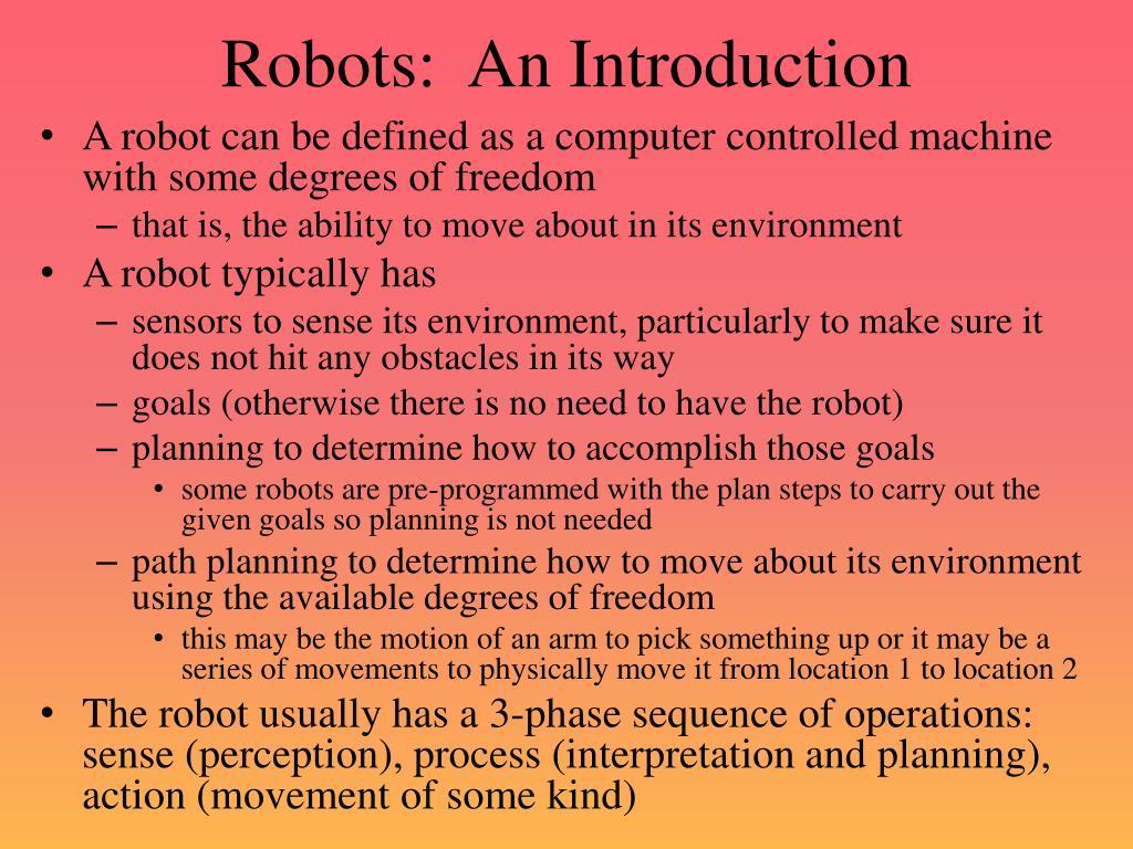 robots an introduction