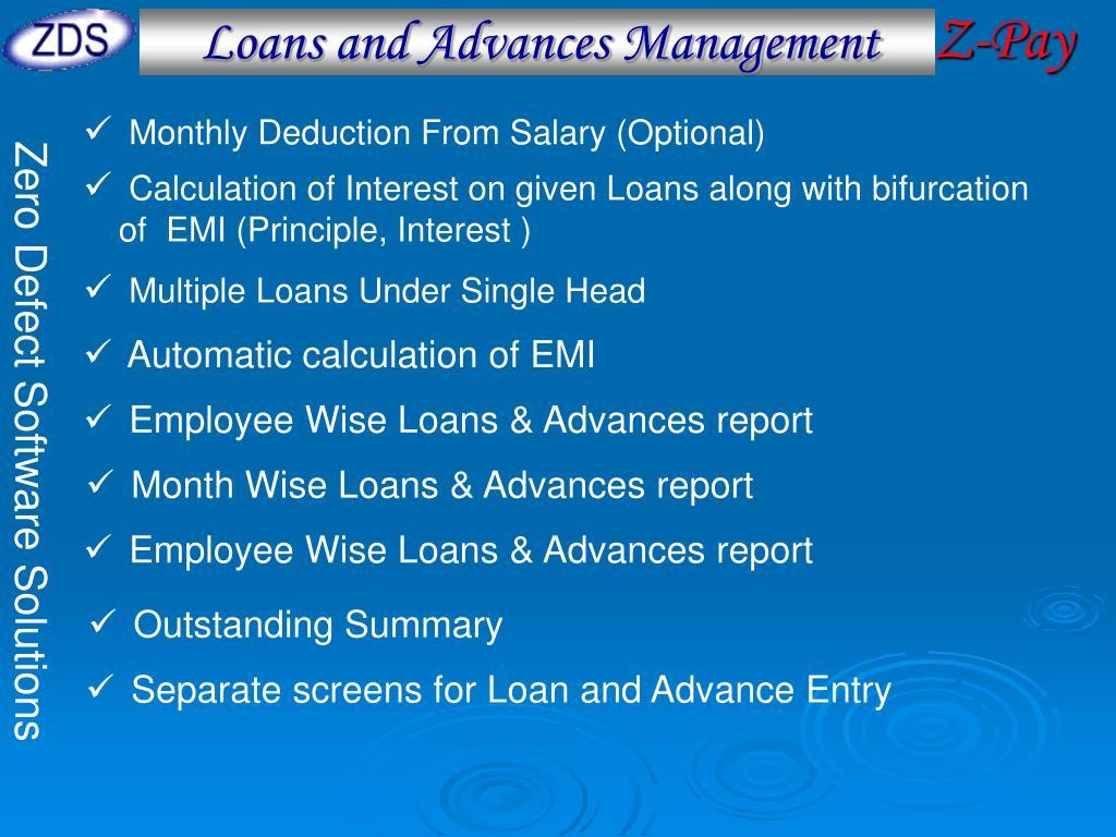 Loans and Advances Management