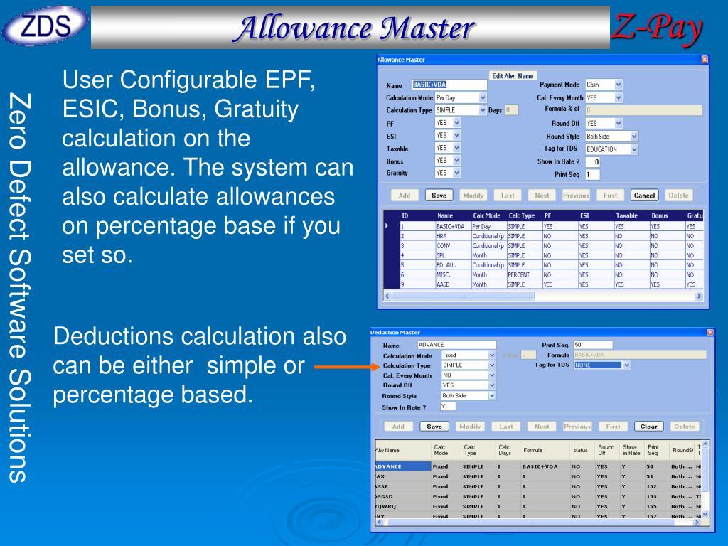 Allowance Master