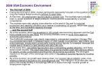 2006 usa economic environment