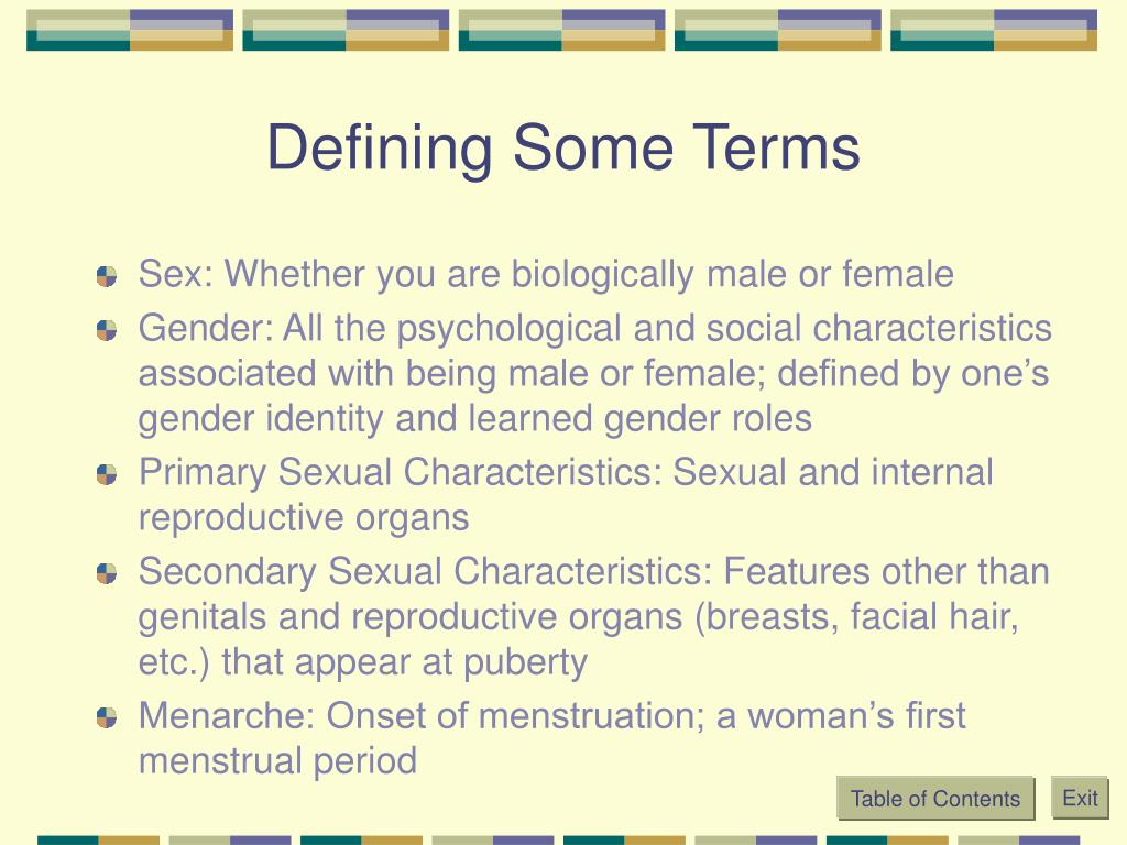 Defining Some Terms
